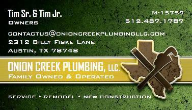 Onion Creek Plumbing, LLC