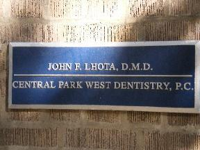 John F Lhota DMD Central Park West Dentistry