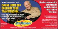 Cottman Transmission Ctr - Homestead Business Directory