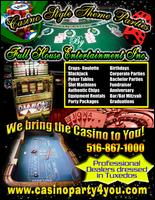 Casino Theme Night Party Rental In Ny, Nj, Ct By Full House Casino Party