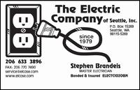 Electric Company of Seattle - Seattle, WA
