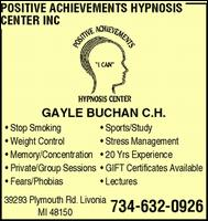 Positive Achievements Hypnosis - Homestead Business Directory