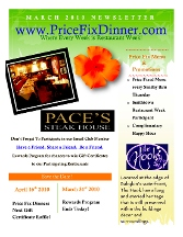 Price Fix Dinner - Homestead Business Directory