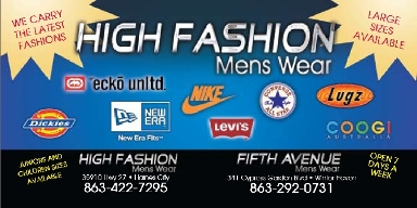 High Fashions Men's Wear - Homestead Business Directory