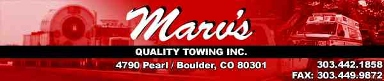 Marv's Quality Towing Inc - Boulder, CO