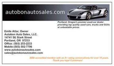 Autobon Auto Sales In Portland Or 97233 Citysearch