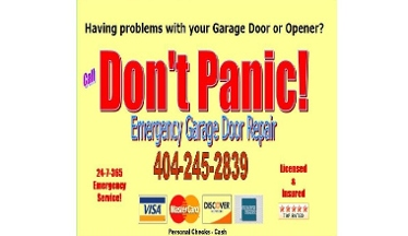 Don't Panic Emergency Garage Door Repair