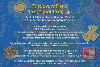 Discovery Land Family Day Care - San Francisco, CA