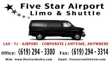 Five Star Airport Limo-Shuttle - San Diego, CA