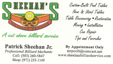Sheehan's Billiards Services - Portland, OR