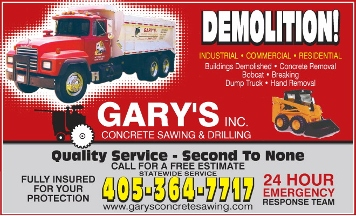 Gary's Concrete Sawing & Drilling Inc - Norman, OK