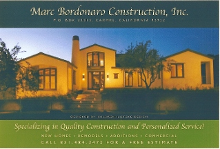 Marc Bordonaro Construction - Carmel, CA