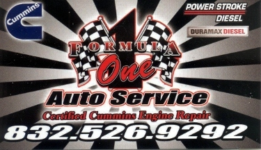 Formula One Auto Services - South Houston, TX