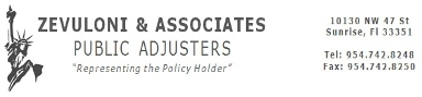 Zevuloni & Associates, Public Adjusters