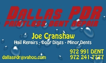 Dallas PDR - Paintless Dent Repair - Addison, TX