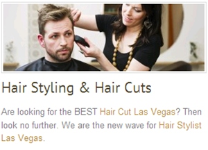 Find check in 89143 located in las vegas nv for A cut above salon