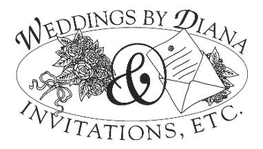 Weddings By Diana & Invitations, Etc.