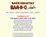 Back Country Bar-B-Q  Catering - Dallas, TX