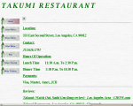 Takumi Restaurant - Los Angeles, CA