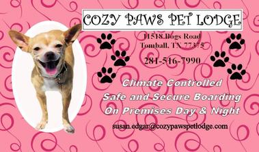 Cozy Paws Pet Lodge - Tomball, TX