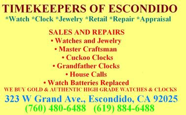 Timekeepers of Escondido - Escondido, CA