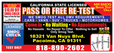 Mr Smog Test Only - Pacoima, CA