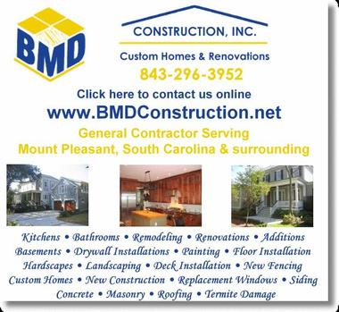 Bmd Construction Inc - Mount Pleasant, SC