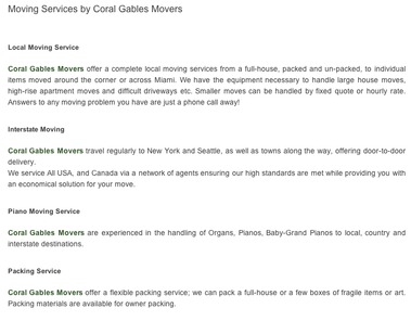 Coral Gables Movers - Miami, FL