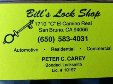 Bills Lock Shop - San Bruno, CA