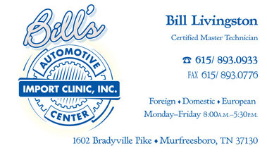Bill's Import Clinic Ctr - Murfreesboro, TN