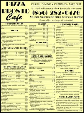 Pizza Pronto Cafe - Somerdale, NJ