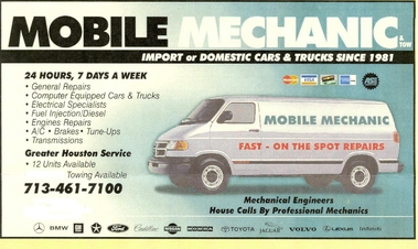 Mobile Mechanic - Houston, TX