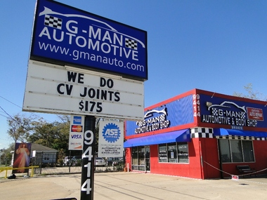 G-Man Automotive & Body Shop - Houston, TX