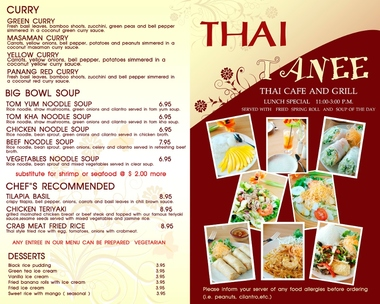 Thai Tanee Cafe & Grill - Dallas, TX