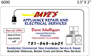Dave's Appliance Repair & Electrical SVCS/Dave Mulligan Electrician - Randolph, MA