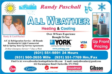 All Weather Heating & Air Cond - Clarksville, TN