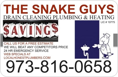 The Snake Guys Drain Cleaning Plumbing & Heating. Lic # 10775 A.t.z. Inc. - Elmwood Park, NJ