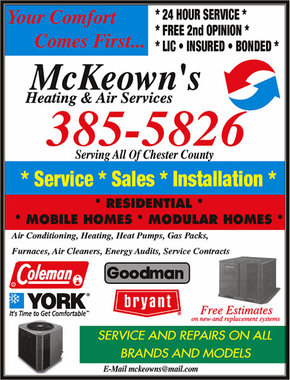 Mckeowns Heating And Air - Chester, SC