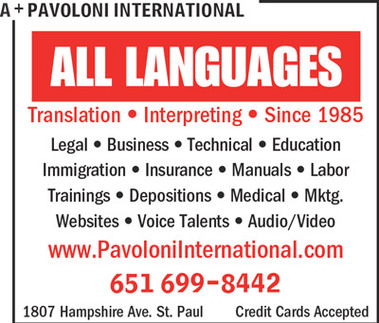 Pavoloni International Translators And Interpreters - Saint Paul, MN