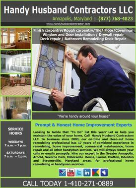 Handy Husband Contractors LLC - Mayo, MD