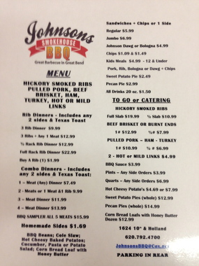 Johnson's Smokehouse BBQ & Catering - Great Bend, KS