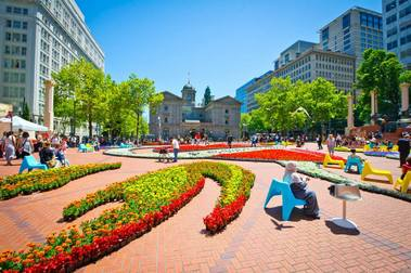 Pioneer Courthouse Square - Portland, OR